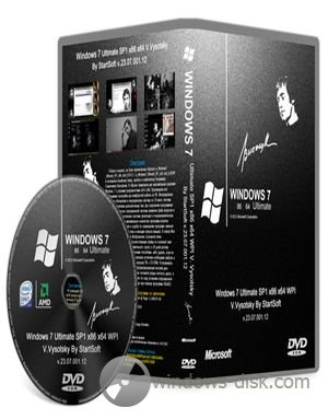 Windows 7 Ultimate SP1 x86 x64 V.Vysotsky By StartSoft