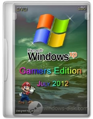 Windows Xp Pro SP3 Gamers Edition DVD
